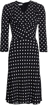 Michael Kors Polka Dot Midi Dress