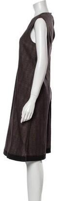 Ter Et Bantine Animal Print Midi Length Dress Brown