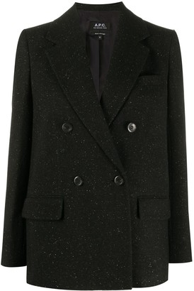 A.P.C. Fitted Double-Breasted Blazer