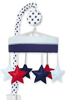 Just Born Vintage Sports Musical Mobile, Blue and Red Stars, Navy/red by