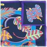 Salvatore Ferragamo exotic leaf print scarf