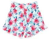 Splendid Girls' Pink & Blue All-over Print Ruffle Short.