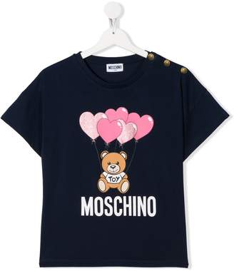 Moschino Kids TEEN logo-print short-sleeved T-shirt