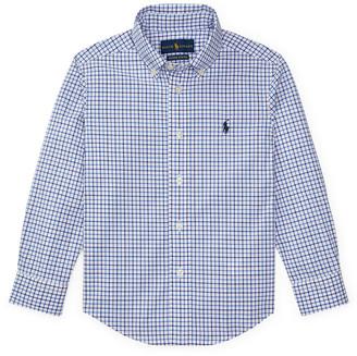 Ralph Lauren Kids Poplin Woven Tattersall Sport Shirt, Size 4-7