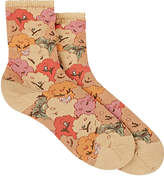 Antipast Women's Floral-Print Cotton-Blend Mid-Calf Socks