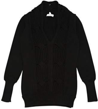CNC Costume National Black Wool Knitwear