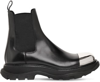 Alexander McQueen 50mm Leather Chelsea Boots