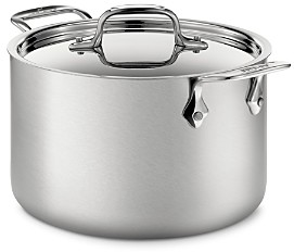 All-Clad d5 Stainless Brushed Steel 4-Quart Soup Pot with Lid
