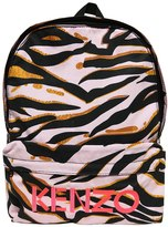 Kenzo Tiger Print Nylon Canvas Backpack