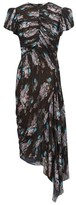 Preen by Thornton Bregazzi Jane Floral-print Pleated-chiffon Dress - Womens - Black