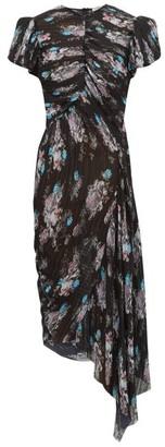 Preen by Thornton Bregazzi Jane Floral-print Pleated-chiffon Dress - Womens - Black