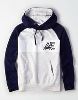 American Eagle Outfitters AE Stripe Fleece Graphic Hoodie