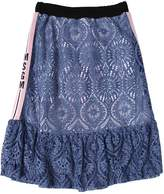 MSGM Viscose & Cotton Blend Lace Long Skirt