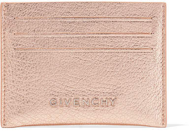 Givenchy Pandora Metallic Textured-leather Cardholder - Pink