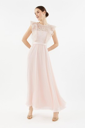 Coast Frilled Sleeve Lace Bodice Maxi Dress