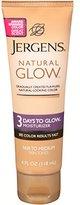 Jergens Natural Glow 3 Days to Glow Moisturizer, ium Skin Tones, 4 Ounce