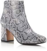 Gentle Souls Women's Troy Snake-Embossed Metallic Leather Block Heel Booties - 100% Exclusive
