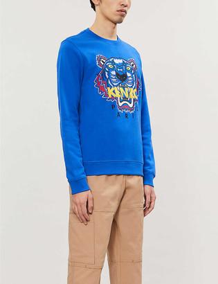 Kenzo Logo-print cotton-jersey sweatshirt