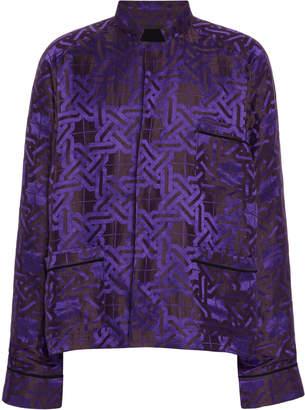 Haider Ackermann Printed Linen-Silk Pajama Top