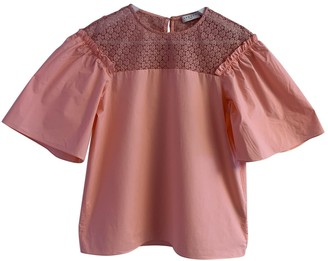 Sandro Pink Cotton Top for Women