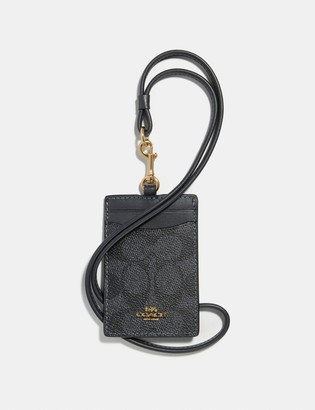 Coach Id Lanyard In Colorblock Signature Canvas