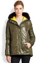 Hunter Faux Fur-Trimmed Down Jacket