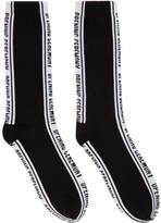 Opening Ceremony Black Jacquard Logo Socks