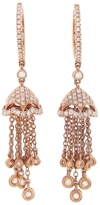 SHAY Diamond Tassel Chain Earrings - Rose Gold