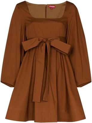 STAUD Isabella square-neck mini dress