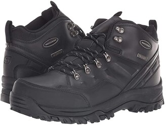 Skechers Relaxed Fit Resment Traven (Black/Black) Men's Boots