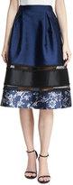 Sachin + Babi Ollie A-Line Sateen Skirt w/ Lace Trim
