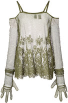 Fenty X Puma floral mesh top
