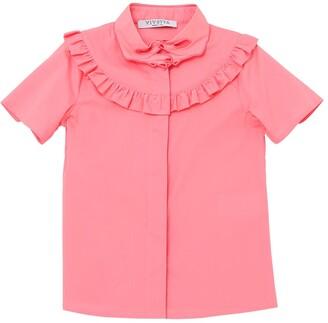 VIVETTA Hand Collar Cotton Poplin Shirt