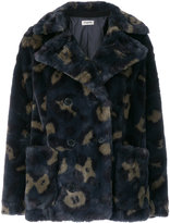 Zadig & Voltaire patterned faux fur jacket