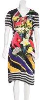 Mary Katrantzou Floral Print Short Sleeve Dress