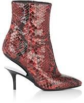 Maison Margiela Women's Suspended-Heel Python Ankle Boots