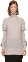 Lemaire Beige Mohair Puff Sleeve Turtleneck