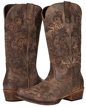 Roper Tall Stuff (Brown Faux Leather) Women's Boots