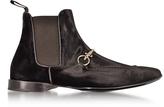 Cesare Paciotti Dark Brown Velvet Boots