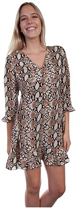 Scully Scarlett Python Print Dress (Brown) Women's Clothing