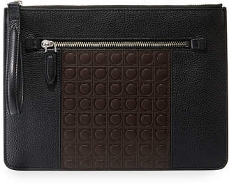 Salvatore Ferragamo Men's Firenze Gamma Textured Leather Document Holder
