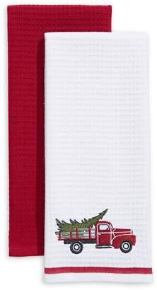 Distinctly Home Holiday Truck 2-Piece Cotton Tea Towel Set