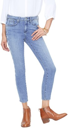NYDJ Ami Skinny Ankle Jeans with Ikat Embroidery