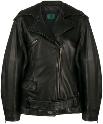 1990s Loose Sleeves Leather Jacket