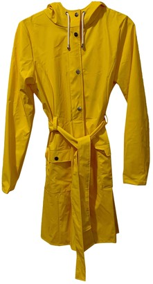 Rains Yellow Polyester Coats