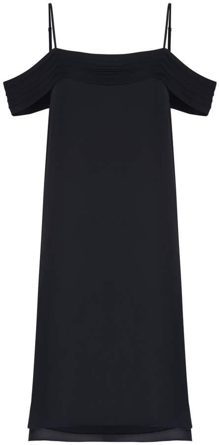 Alexander Wang Black Silk Offshoulder Dress