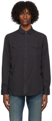 Ralph Lauren RRL Black Twill Western Shirt