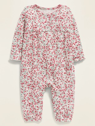 Old Navy Floral Henley Thermal One-Piece for Baby