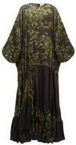 Preen by Thornton Bregazzi Harper Leaf-print Satin Maxi Dress - Womens - Black Multi