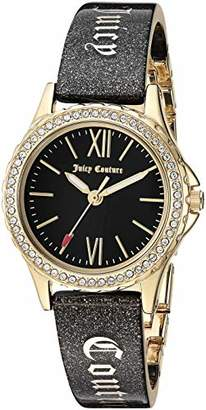 Juicy Couture Black Label Women's Swarovski Crystal Accented Gold-Tone and Black Shimmer Resin Bangle Watch